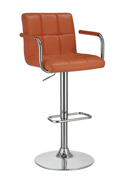Contemporary Pumpkin Fabric Adjustable Bar Stool CST-121098