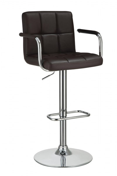 Contemporary Brown Fabric Adjustable Bar Stool CST-121099