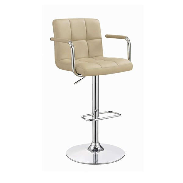 Coaster Furniture Beige Faux Leather Adjustable Bar Stool CST-121106