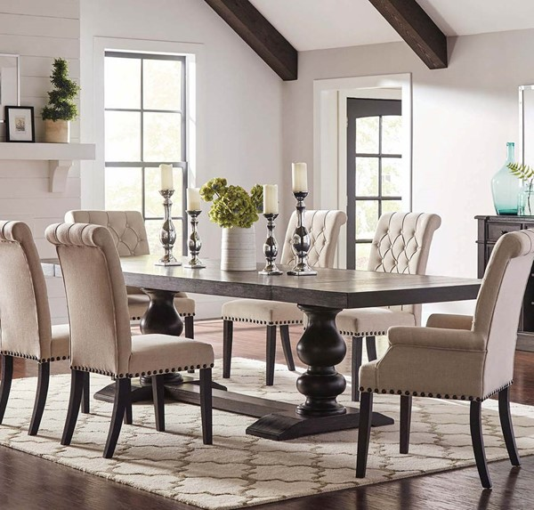 Coaster Furniture Phelps Antique Noir Dining Table CST-121231