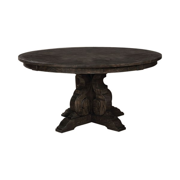 Coaster Furniture Whitney Burnished Black Round Table CST-121280