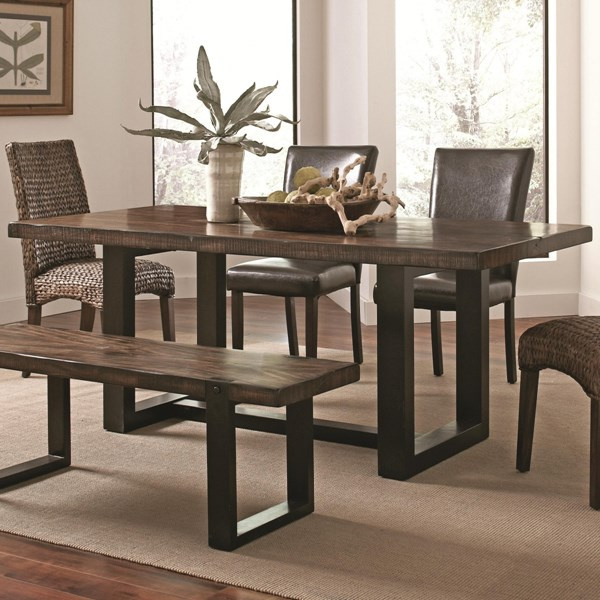 Westbrook Vintage Brown Black Wood Dining Table CST-121641