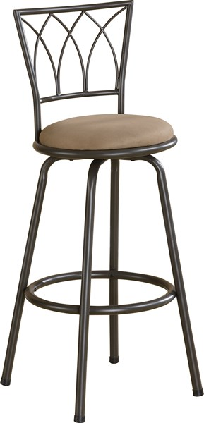 Casual Black Brown Metal Fabric Bar Stools CST-122020