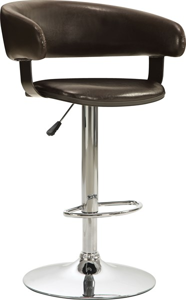 Contemporary Brown Metal Fabric Bar Stool CST-122095
