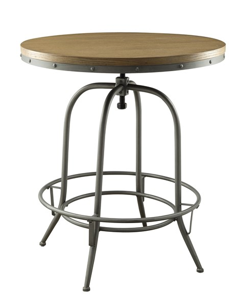 Contemporary Black Wood Metal Bar Table CST-122097