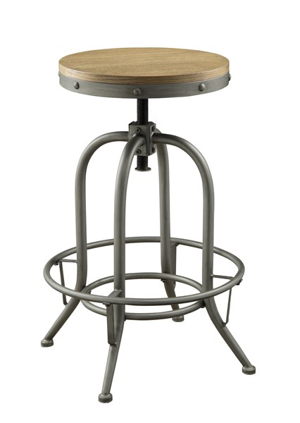 2 Contemporary Black Wood Metal Bar Stools CST-122098
