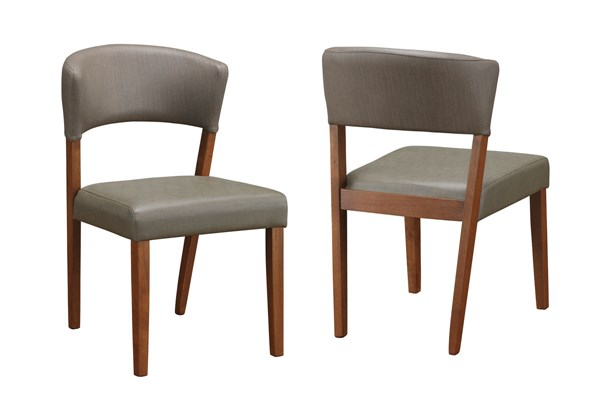 2 Paxton Modern Nutmeg Wood Faux Leather Dining Chairs CST-122172