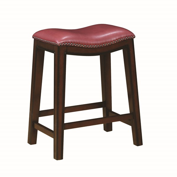 2 Coaster Furniture Red Counter Height Stools CST-122267