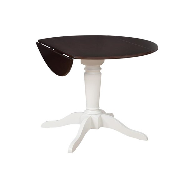 Coaster Furniture Bremerton Rich Brown White Dining Table CST-122331