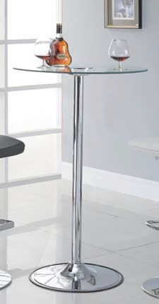 Contemporary Chrome Metal Glass 42 Inch Bar Table CST-122400