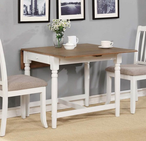 Coaster Furniture Hesperia Pale Ale White Dining Table CST-123001