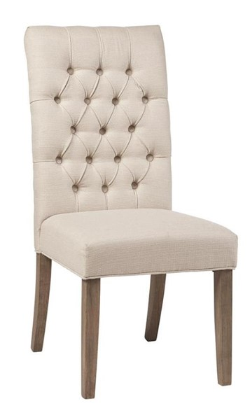 2 Coaster Furniture Gadsden Beige Fabric Side Chairs CST-123052