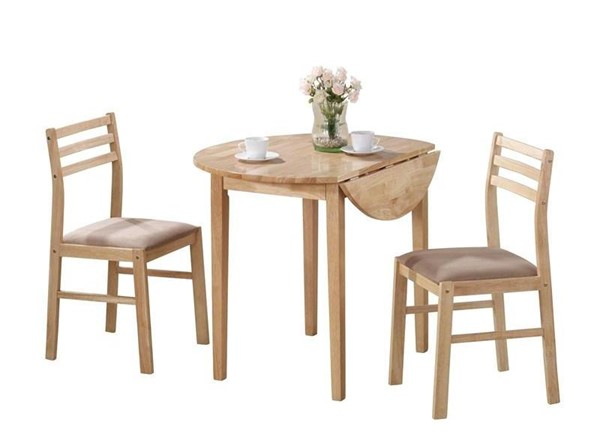Coaster Furniture Natural Tan 3pc Dining Set CST-130006