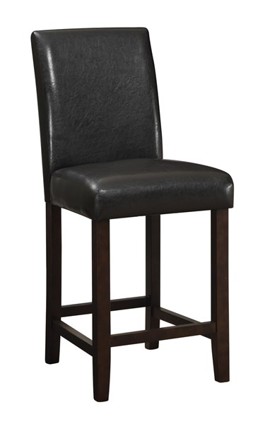 2 Vista Cappuccino Wood Faux Leather Counter Height Chairs CST-130059