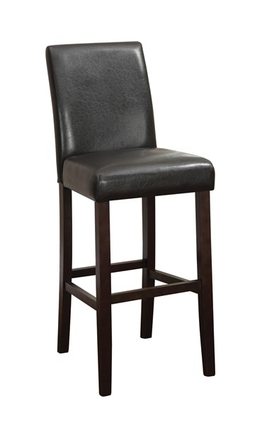 2 Dark Brown Wood Vinly Counter Height Chairs CST-130060