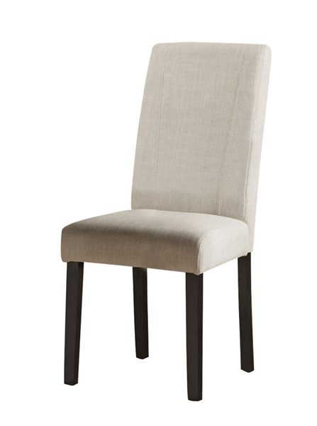 2 Nagel Elegant White Fabric Wood Solid Back Parson Chairs CST-130061
