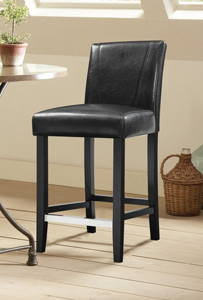 2 Commercial Grade Chairs Black Wood Dining Stools CST-130064