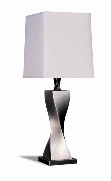 2 Coaster Furniture Antique Silver Metal Square Table Lamps CST-1497