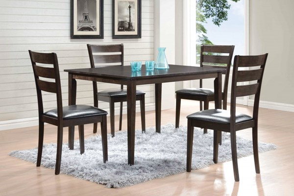 Shasta Warm Grey Wood Faux Leather 5pc Set CST-150014
