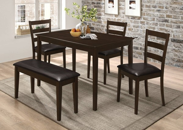Coaster Furniture Cappuccino 5pc Dining Sets CST-150232