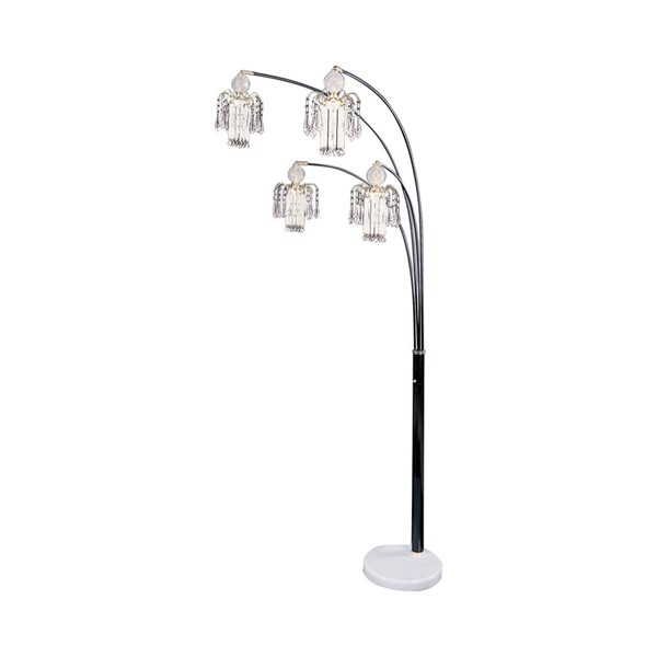 Coaster Furniture Black Glass Bell Floor Lamp CST-1771N