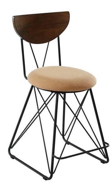 2 Coaster Furniture Gold Fabric Counter Height Stools CST-180348