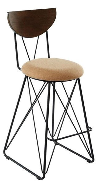 2 Coaster Furniture Gold Fabric Bar Height Stools CST-180349