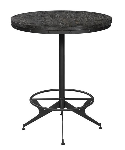 Coaster Furniture Brushed Black Round Bar Height Table CST-182270