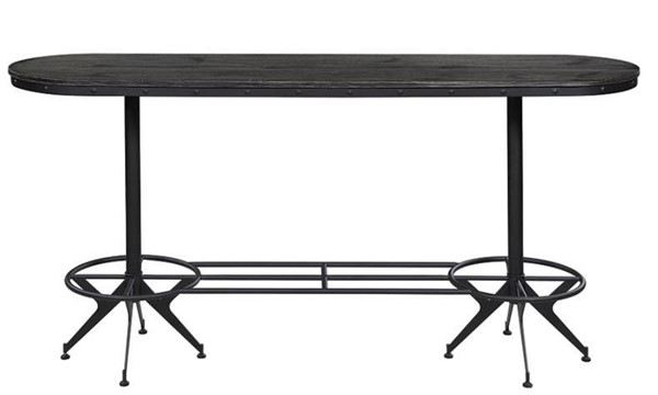 Coaster Furniture Brushed Black Oval Bar Height Table CST-182271