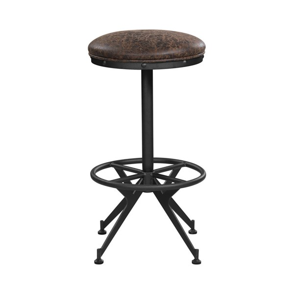 2 Coaster Furniture Brown Leatherette Bar Height Stools CST-182272