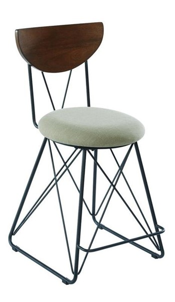 2 Coaster Furniture Green Fabric Counter Height Stools CST-182458