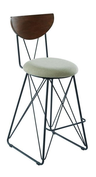 2 Coaster Furniture Green Fabric Bar Height Stools CST-182459