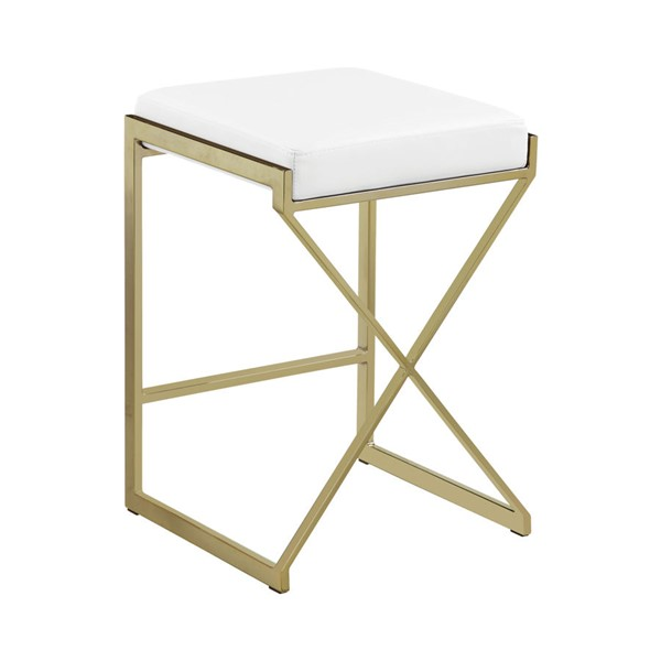 Coaster Furniture Sunny Gold White Counter Height Stool CST-182565
