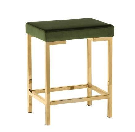 2 Coaster Furniture Green Fabric Armless Counter Stools CST-182918