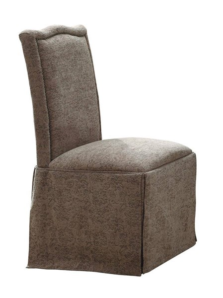 2 Slauson Traditional Beige Fabric Side Chairs CST-190062