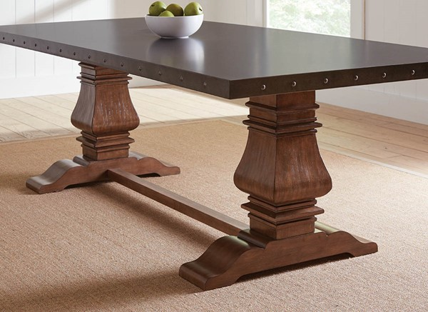 Coaster Furniture Mapleton Rustic Amber Rectangle Dining Table CST-190451