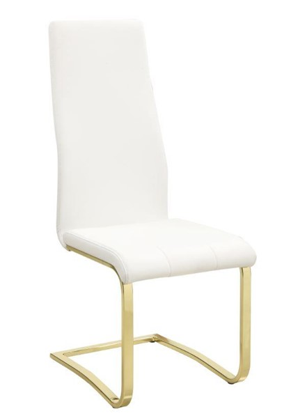 2 Coaster Furniture Chanel White Dining Chairs CST-190512