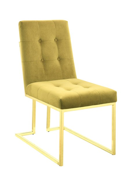 2 Coaster Furniture Evianna Mustard Gold Dining Chairs CST-190545
