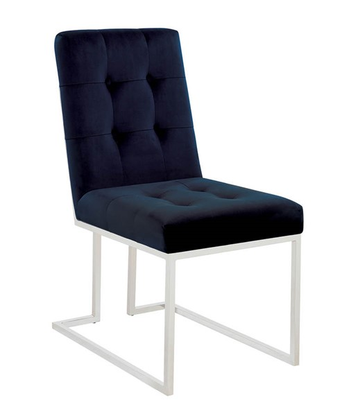 2 Coaster Furniture Mischa Ink Blue Dining Chairs CST-190547