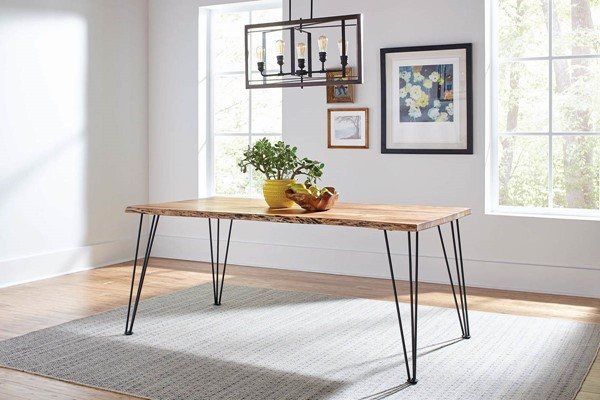 Coaster Furniture Sherman Natural Solid Wood Dining Table CST-190911