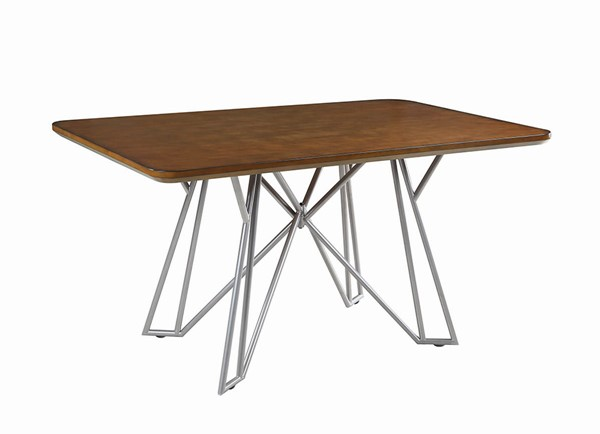 Coaster Furniture Ramsey Brown Silver Dining Table CST-191971