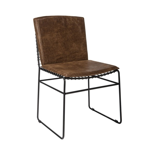 2 Coaster Furniture Sherman Antique Brown Fabric Dining Chairs CST-192502