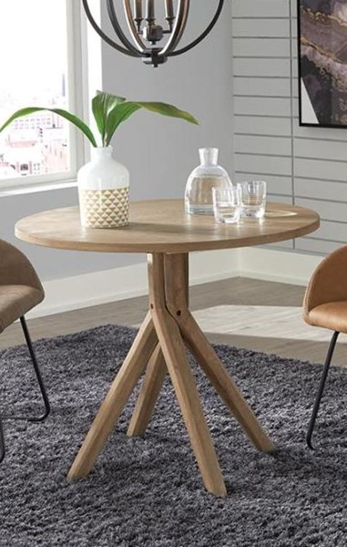 Coaster Furniture Arcadia Greige Wood Round Dining Table CST-192531