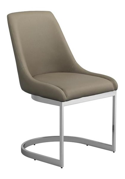 2 Coaster Furniture Marino Taupe Leatherette Dining Chairs CST-192632