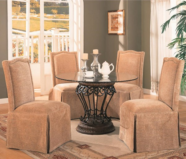 Slauson Traditional Beige Brown 5pc Dining Room Sets CST-120031-DRS-VAR