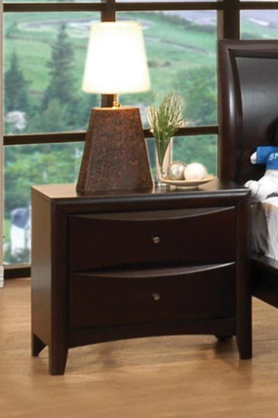 Phoenix Transitional Deep Cappuccino Night Stand CST-200412