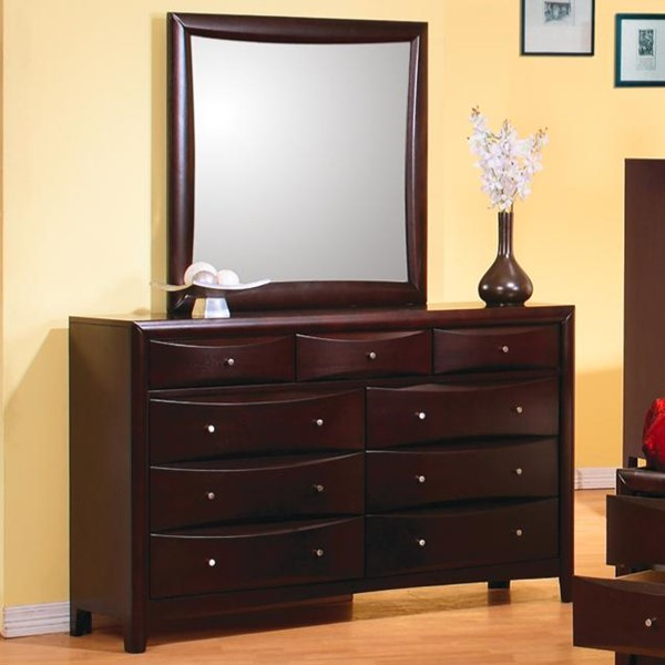 Phoenix Transitional Deep Cappuccino Mirror CST-200414