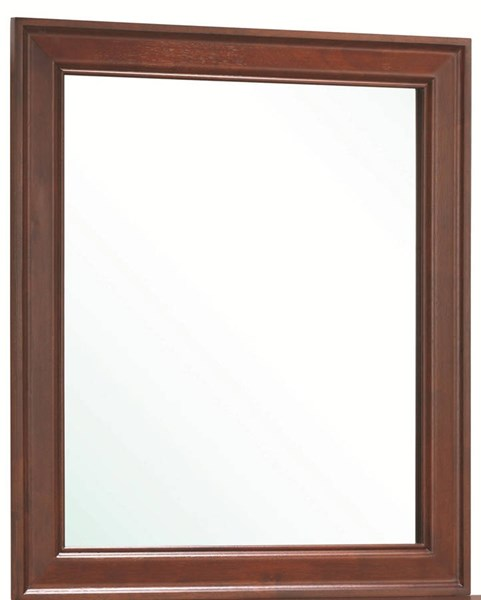 Louis Philippe Classic Red Brown Wood Mirror CST-200434