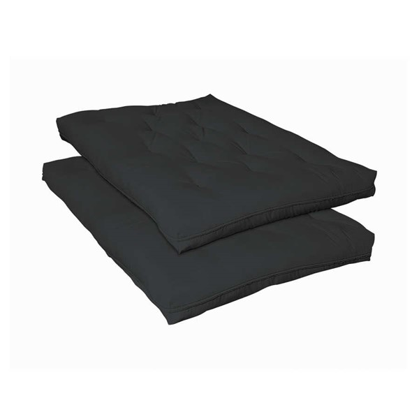 Coaster Furniture Black Fabric Deluxe Innerspring Futon Pad CST-2005IS