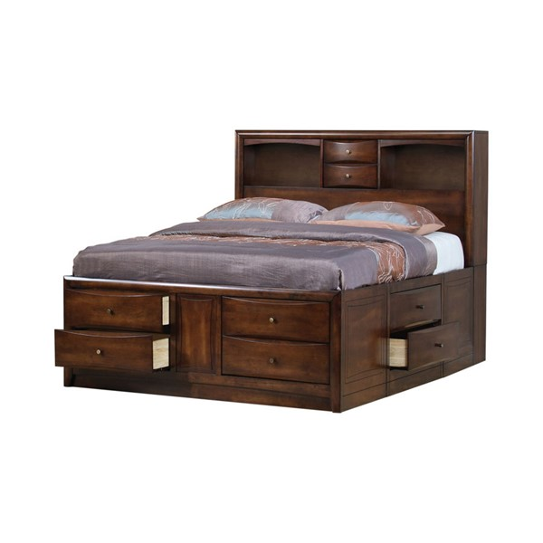 Coaster Furniture Hillary Warm Brown Queen Storage Bed CST-200609Q
